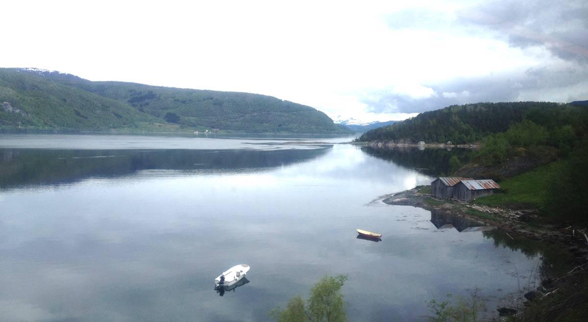 Einsamer Fjord in Süd Norwegen